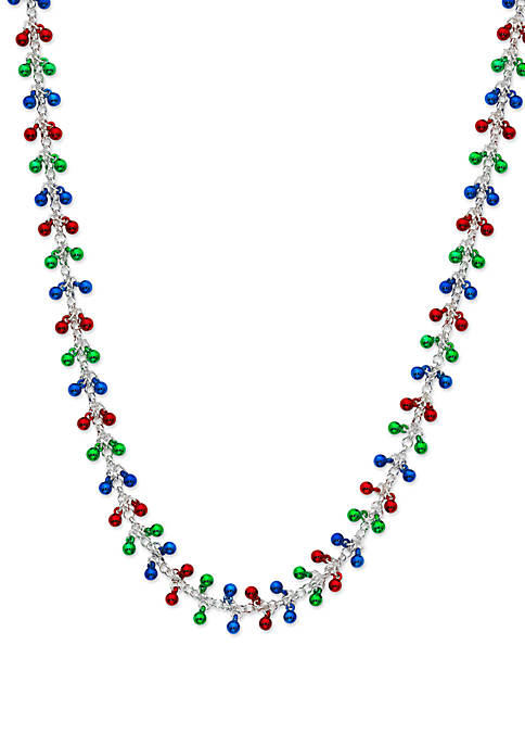 Kim Rogers® Silver Tone Necklace with Colorful Balls