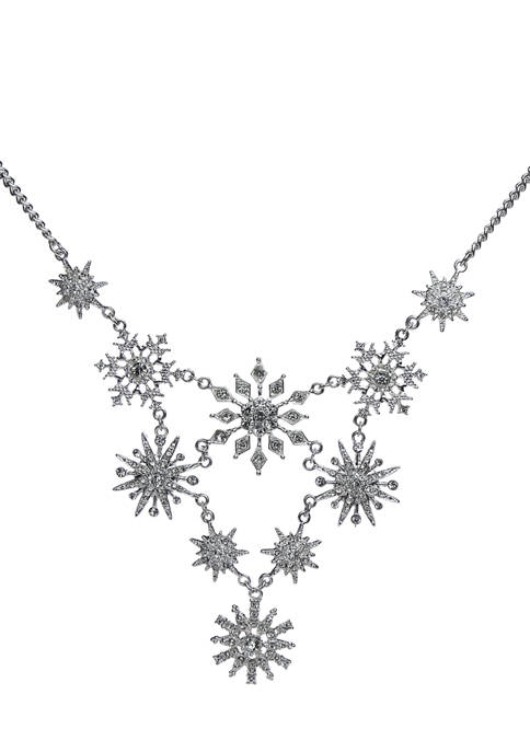 Fancy Snowflake Station Necklace