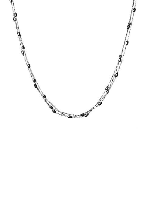 Kim Rogers® Bead Station Silver Tone Necklace
