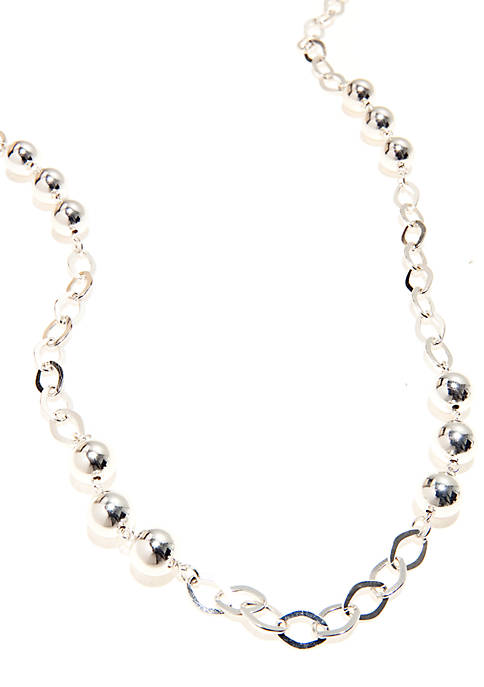 "Kim Rogers® 36"" Open Link Silver Plated Necklace"