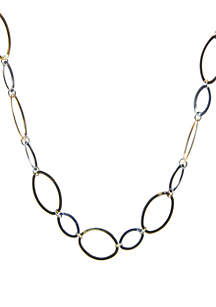 Kim Rogers® Polished Oval Link Necklace