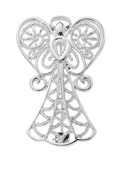 Kim Rogers® Silver Tone Angel Filigree Pin