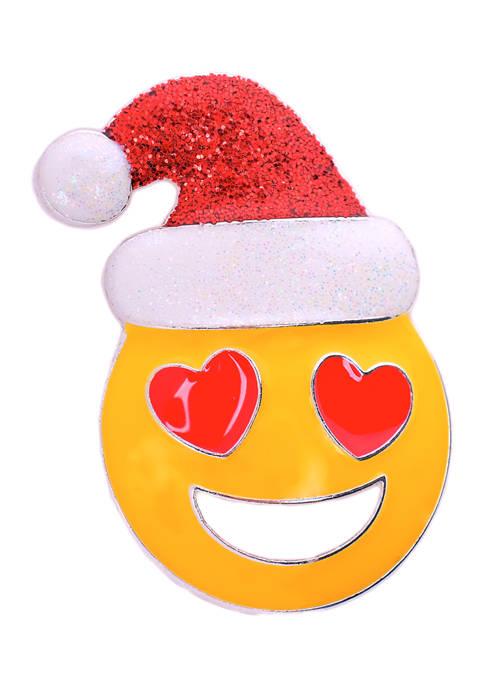 Love Emoji with Hat Pin