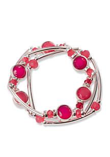 Tonal Pink Bead Tube Bracelet Set