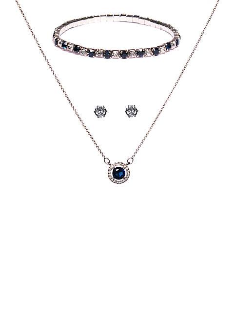 Kim Rogers® 3 Piece Cubic Zirconia Bracelet, Necklace,