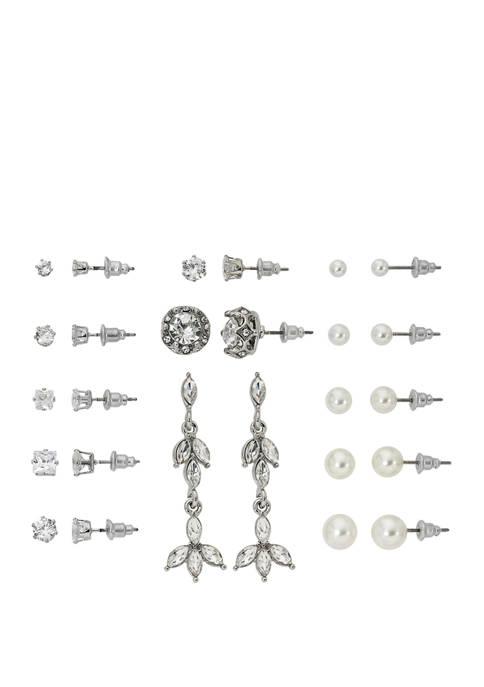 Set of 13 Cubic Zirconia Earrings