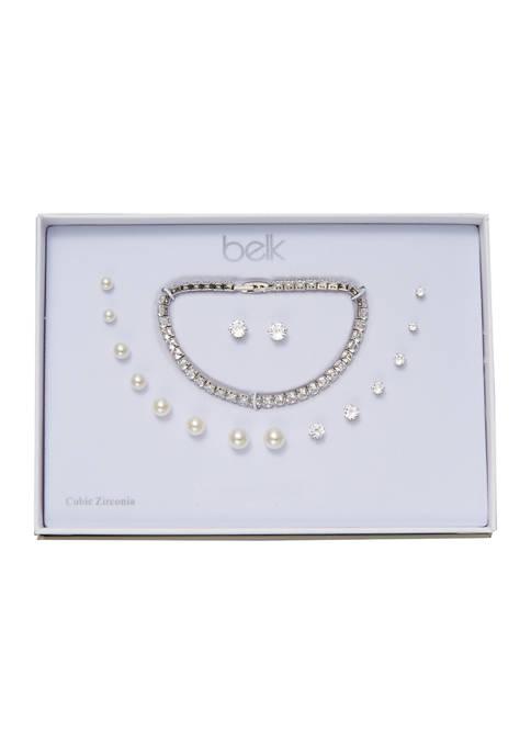 Kim Rogers® 8 Pairs of Earrings and Bracelet