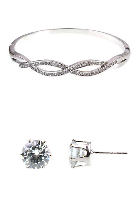Twist Earrings and Bracelet Boxed Set
