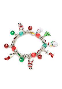 Holiday Charm Silver-Tone Bracelet