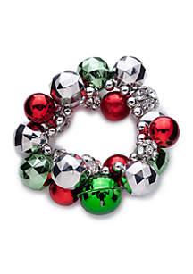 Jingle Snowflake Silver Tone Bracelet
