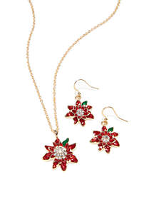 Three-Piece Gold-Tone Holiday Necklace Set