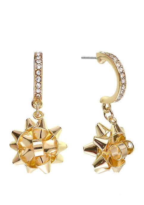 Kim Rogers® Holiday Gold Tone Box Earrings