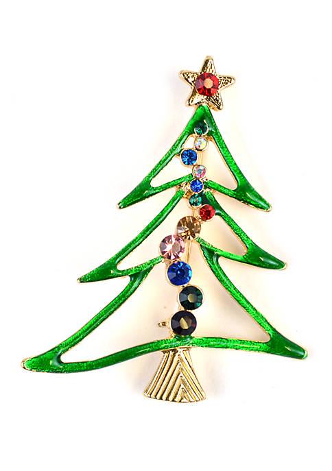 Kim Rogers® Green Tree Pin