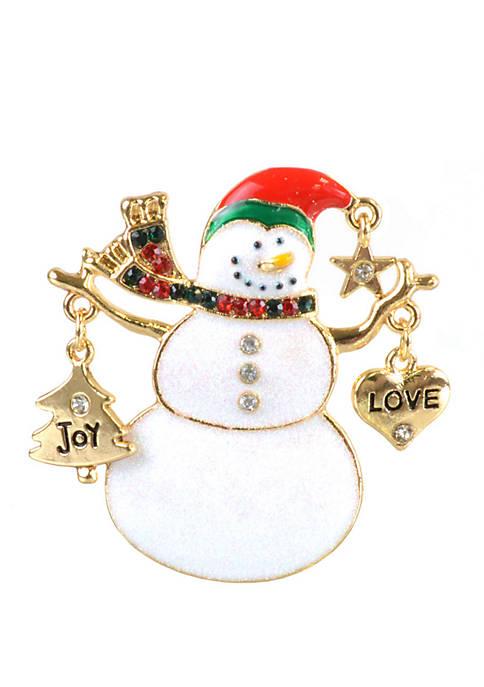 Kim Rogers® Joy Love Snowman Pin