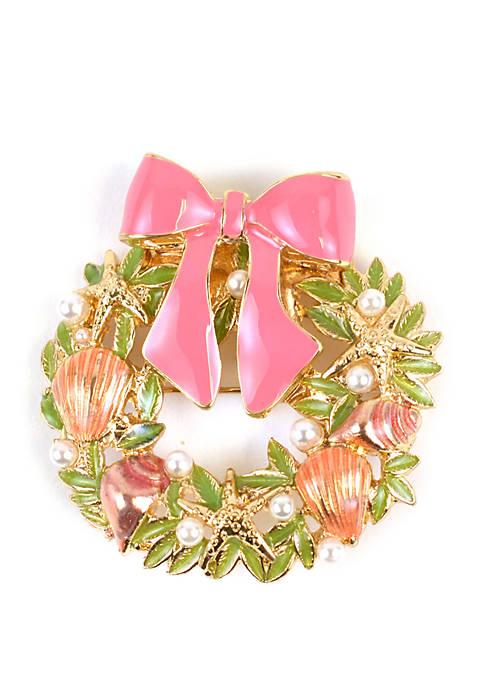 Kim Rogers® Sea Wreath Pin