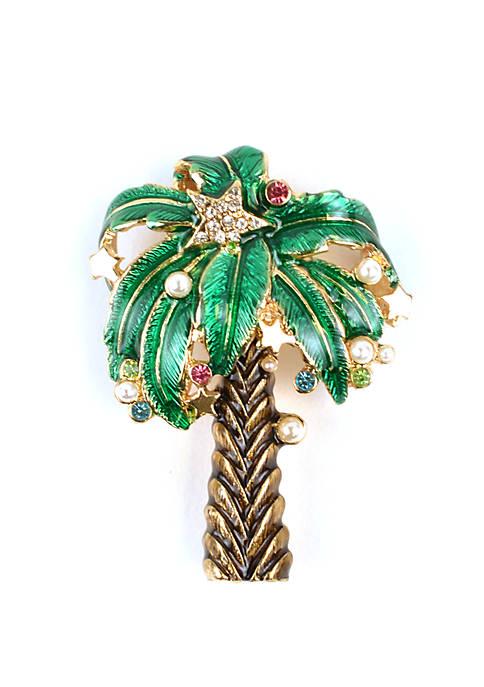 Christmas Palm Tree Pin