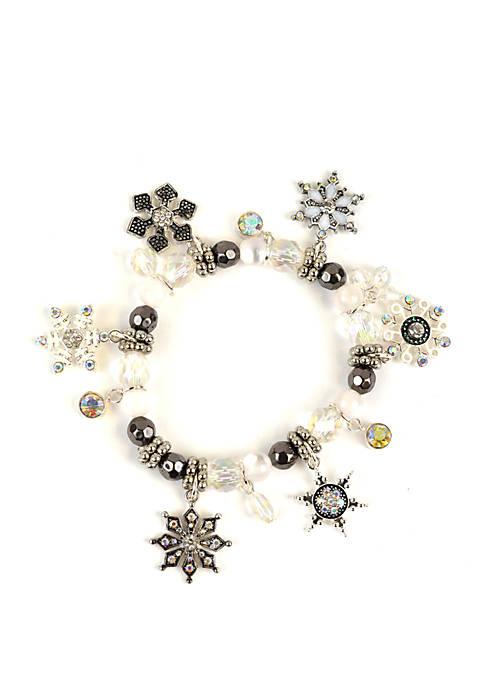 Stretch Snowflake Bracelet