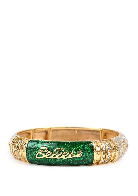 Gold Tone Believe Bracelet