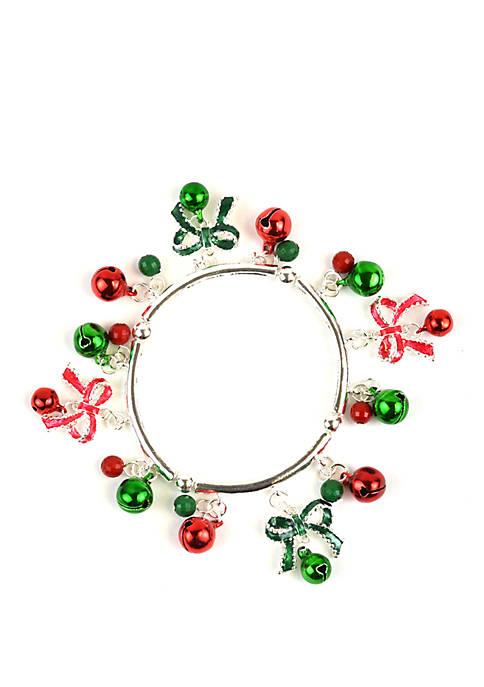 Jingle Bells and Bow Bracelet