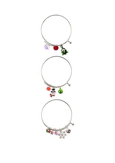 Holiday Drop Bangle Bracelet Set