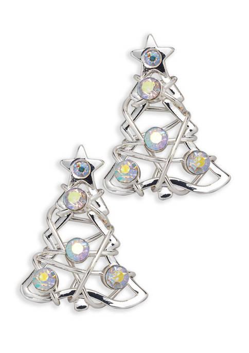 Christmas Tree Stud Earrings