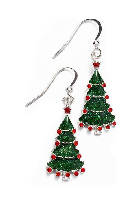 Christmas Tree Drop Earrings