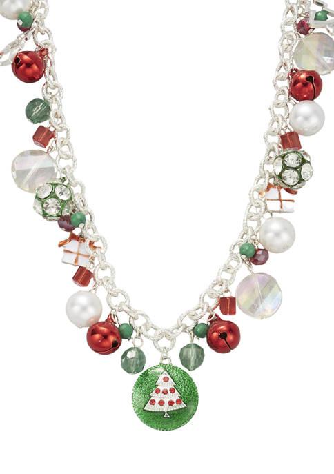 Silver-Tone Long Shaky Necklace