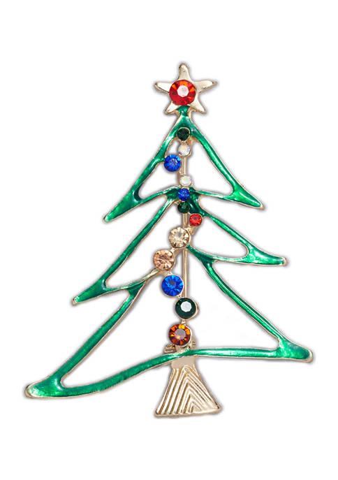 Green Tree Pin