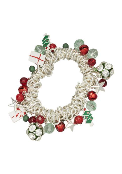 Silver Tone Charm Bracelet