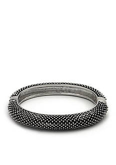 Kim Rogers® Silver-Tone Stippled Bangle Boxed Bracelet