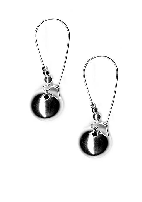 Kim Rogers® Silver-Tone Sensitive Skin Bead Drop Earrings