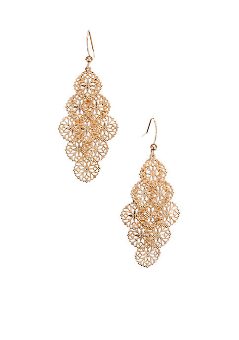 Kim Rogers® Gold Tone Sensitive Skin Filigree Cluster