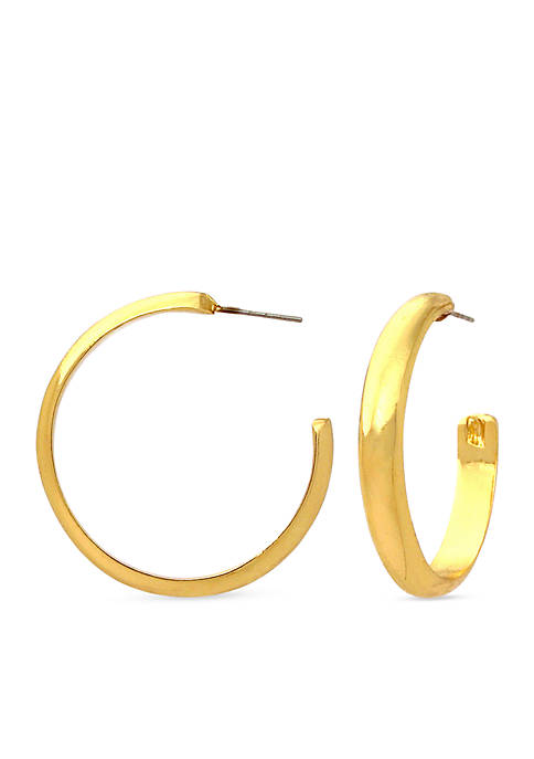 Kim Rogers® Gold-Tone Sensitive Skin Hoop Earrings