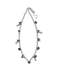Kim Rogers® Silver-Tone Starry Night Long Shaky Necklace