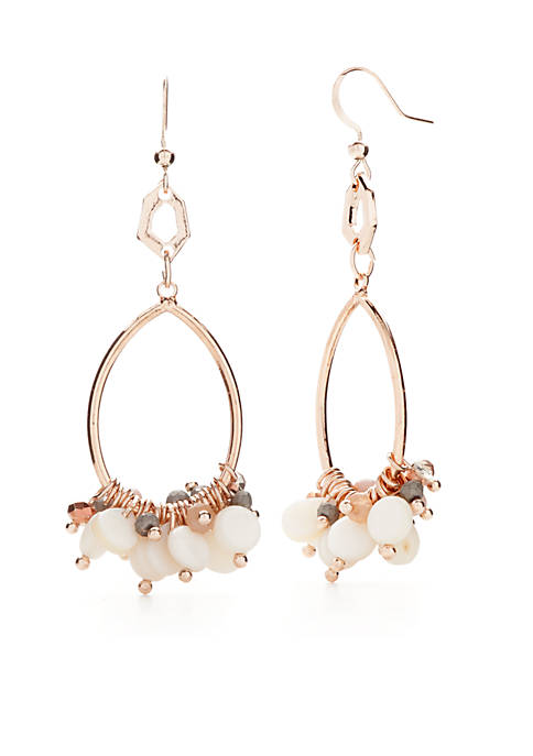 Kim Rogers® Rose-Gold Tone Montauk Weekend Oval Drop