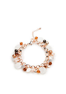 Rose-Gold Aqua Sealife Shell Shaky Bracelet
