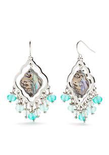 Silver-Tone Abalone Earrings