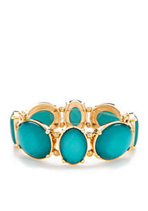 Turquoise Circle Stretch Bracelet