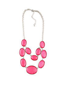 2-Row Pink Necklace