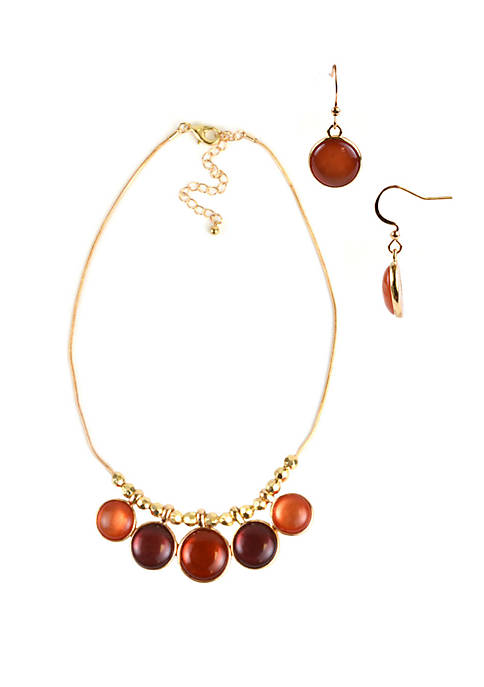 Kim Rogers® Gold Tone Necklace and Earring Set