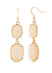 Gold-Tone Double Drop Earrings