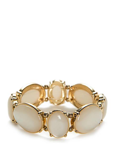 Gold-Tone Circle Stretch Bracelet
