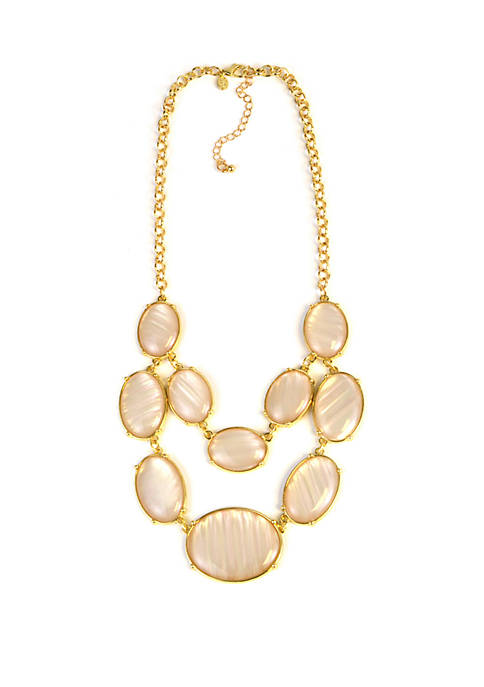 Kim Rogers® Two Row Mother of Pearl Necklace
