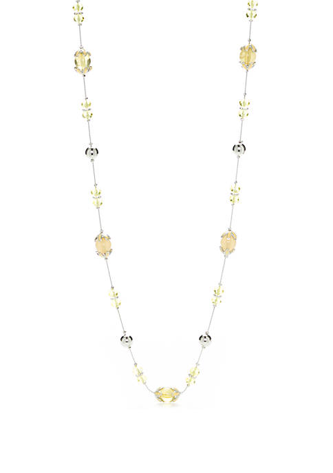 Kim Rogers® Silver Tone Long Beaded Necklace