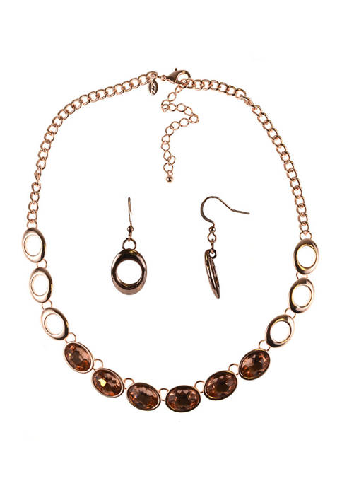 Kim Rogers® Oval Necklace and Earring Set