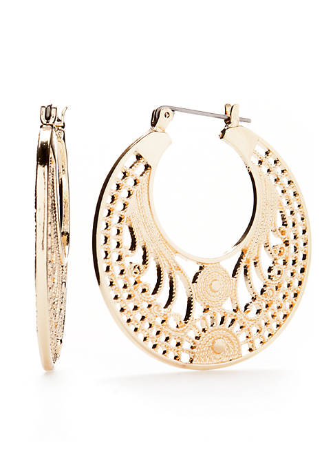 Kim Rogers® Gold Filigree Hoop