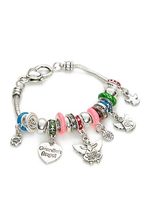 Kim Rogers® Silver Tone Guardian Angel Bracelet