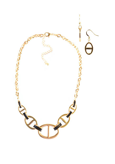 Link Necklace and Earring Set
