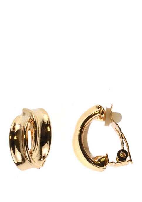 Kim Rogers® Clip Earring Gold Twist Earrings