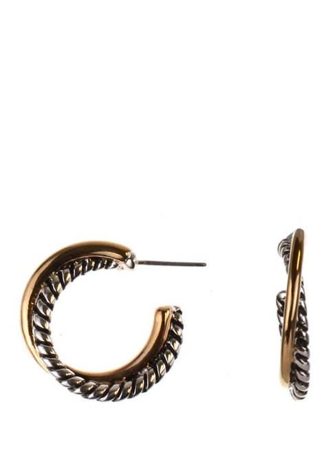 Twist Textured Hoop Earrings